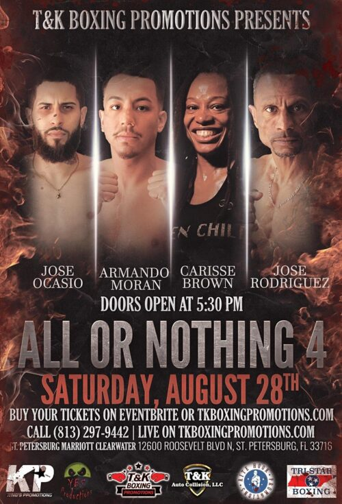 Florida Boxing Match St Petersburg Marriott Clearwater - All Or Nothing 4 - T&K Promotions