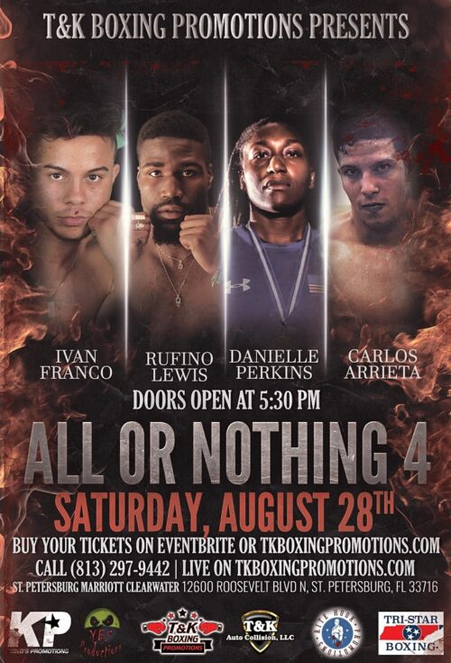 Boxing Event Florida - All Or Nothing 4 - Get Tickets St Petersburg Marriott Clearwater
